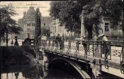 Postcard Düsseldorf am Rhein, Bastionbrücke über den Stadtgraben