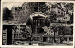 Postcard Bad Homburg von der Höhe, Park, Sanatorium, Elisabeth Brunnen