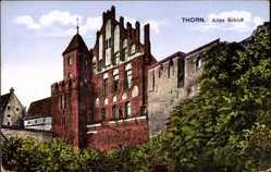 Ak Toruń Thorn Westpreußen, Ansicht vom alten Schloss, Zamek