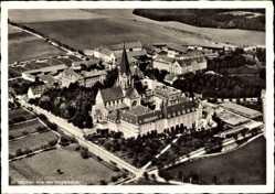 Postcard St. Ottilien Eresing Oberbayern, Blick auf die Erzabtei, Fliegeraufnahme