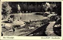 Postcard Bad Wörishofen, Das Sonnenbüchl Familienbad, Gäste