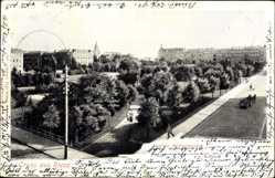 Postcard Riesa an der Elbe Sachsen, Kaiser Wilhelm Platz, Grünanlagen