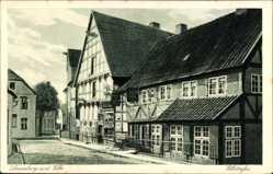 Postcard Lauenburg an der Elbe, Elbstraße, Fackwerkhaus, Gasthof