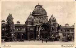 Postcard Nürnberg in Mittelfranken Bayern, Blick auf den Hauptbahnhof