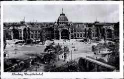 Postcard Nürnberg in Mittelfranken Bayern, Der Hauptbahnhof