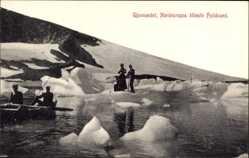 Postcard Gjuvvandet Norwegen, Nordeuropas höchste Felswand, Gletscher