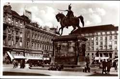 Postcard Zagreb Kroatien, Jelacicev spomenik, Reiterdenkmal, Tivar Odijela
