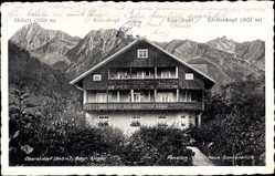 Postcard Oberstdorf im Oberallgäu, Pension Haus Sonneblick, W. Brutscher, Höfatz
