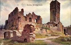 Künstler Ak Heilinger, P., Königstein im Taunus, NKG Serie 1507 12, Schlossruine