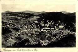 Postcard Bad Liebenstein im Wartburgkreis, Panorama der Stadt