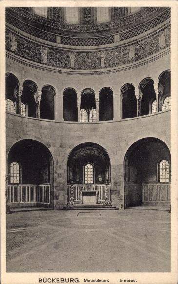 Bückeburg im Kreis Schaumburg, Innenansicht des Mausoleums