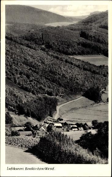 Bontkirchen Brilon im Hochsauerlandkreis, Ortschaft, Waldlandschaft