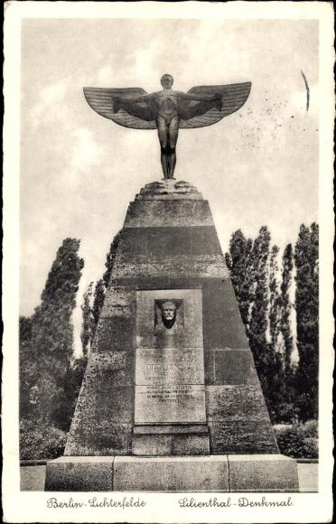 Berlin Steglitz Lichterfelde, Das Lilienthal Denkmal