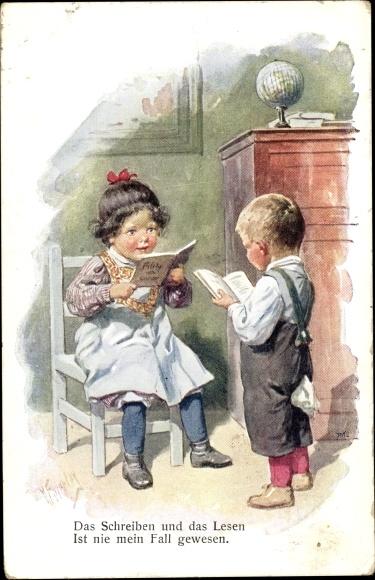 Künstler Ansichtskarte Postkarte Feiertag Karl Kinder Akpoolde