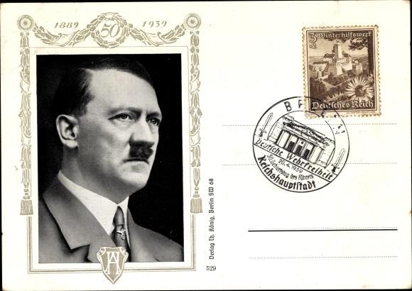 Ansichtskarte Postkarte Fuhrer Und Reichskanzler Adolf Akpool De