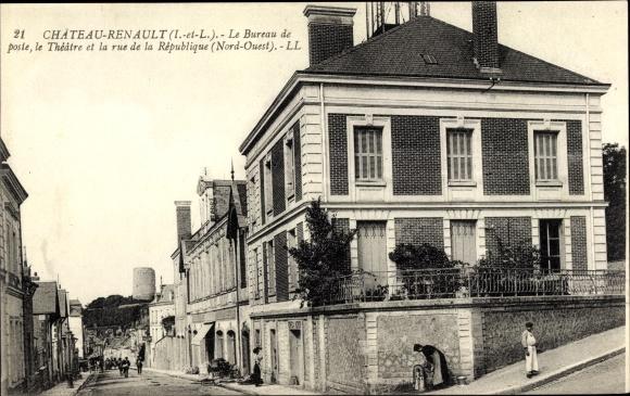 Ansichtskarte postkarte chateaurenault indre et loire akpool.de
