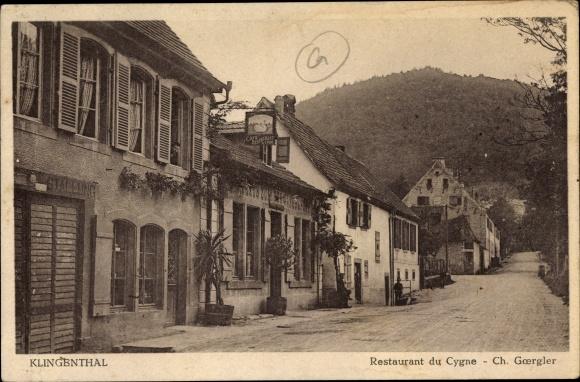 Carte Klingenthal Alsace.Carte Postale Klingenthal Elsass Bas Rhin Restaurant Du Cygne Propr Ch Goergler