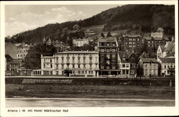 ansichtskarte postkarte altena im markischen kreis hotel markischer hof bes gustav romhild jpg 580x378 altena maerkischer