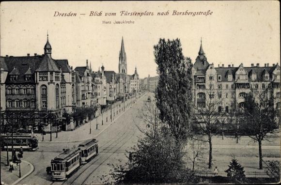 Ansichtskarte Postkarte Dresden Blick Vom Fürstenplatz Akpoolde