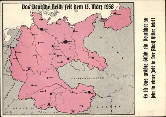 Landkarten Postcard Das Deutsche Reich Seit Dem 13 Akpool Co Uk