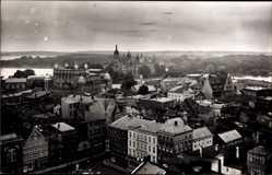 Foto Ak Schwerin in Mecklenburg Vorpommern, Panorama der Stadt