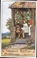 Künstler Ak Kutzer, Ernst, Adalbert Stifter, Feldblumen, 4 Glockenblume