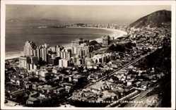 Postcard Rio de Janeiro Brasilien, Copacabana, Siedlung mit Küstenlinie