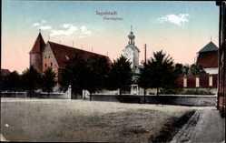 Postcard Ingolstadt an der Donau Oberbayern, Kirche am Paradeplatz