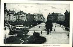 Postcard Budapest Ungarn, Szabadsag Ter, Freiheitsplatz, Straßenbahn