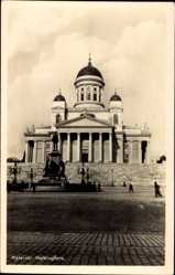 Postcard Helsinki Helsingfors Südfinnland, Blick auf die Kirche, Denkmal
