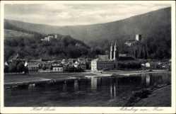 Postcard Miltenberg am Main, Partie am Main, Blick zum Hotel Linder