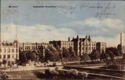 Postcard Bochum im Ruhrgebiet, Bergmannsheim Krankenhaus, Vorderfront