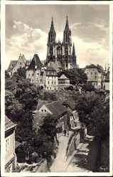 Ansichtskarte / Postkarte Meißen in Sachsen, Straßenpartie, Burgtor Schanke, Kirche