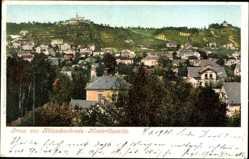 Ansichtskarte / Postkarte Kötzschenbroda Niederlössnitz Radebeul Sachsen, Blick auf den Ort
