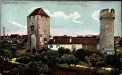 Postcard Ladenburg am Neckar, Blick auf Martinstor und Hexenturm, Häuser