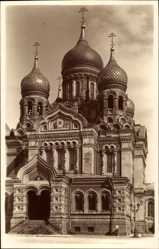 Postcard Tallinn Reval Estland, Aleks Nevski peakirik, Kirche