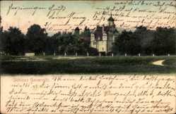 Ansichtskarte / Postkarte Gauernitz Klipphausen Sachsen, Blick auf das Schloss Gauernitz