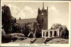 Postcard Linum Fehrbellin Osthavelland in Brandenburg, Blick auf die Kirche