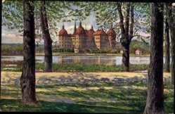 Künstler Ak Ullmann, Max, Moritzburg Sachsen, Königliches Schloss