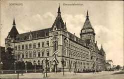 Postcard Dortmund im Ruhrgebiet, Blick auf Oberpostdirektion und Hitropwall