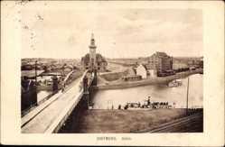 Postcard Dortmund im Ruhrgebiet, Partie am Hafen, Brücke, Salondampfer, Kirche