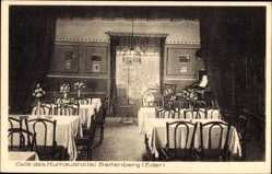 Postcard Baffenberg Eder, Kurhaushotel, Gustav Auer, Innenansicht, Klavier