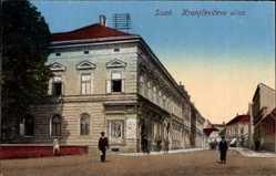 Postcard Sisak Kroatien, Kranjceviceva ulica, Straßenpartie