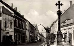 Postcard Szentendre Sankt Andrä Ungarn, Marx Ter, Platz, Kreuz