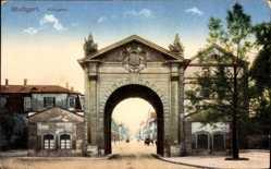 Postcard Stuttgart in Baden Württemberg, Königstor, Durchblick