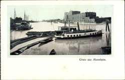 Postcard Mannheim in Baden Württemberg, Blick in den Hafen