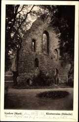 Postcard Lindow in der Mark, Blick auf die Klosterruine, Südseite