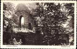 Postcard Lindow i.d. Mark, Partie an einer Klosterruine, Steinmauer, Bäume