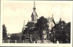 Postcard Kajaani Kajana Oulu Finnland, Ansicht der Holzkirche