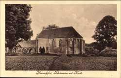 Postcard Himmelpfort Fürstenberg an der Havel, Klosterruine mit Kirche